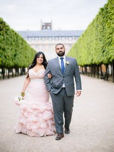 Blush Wedding Dress - Maggie Sottero - Plus size bride - Divina