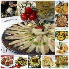 zucchine - A Tavola con Lia Seafood Dishes, Fish And Seafood, Antipasto, Ricotta, Finger Foods, Pasta Salad, Buffet, Menu, Food And Drink