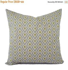 15% OFF SALE Two Brown Green and Blue Decorative Pillow Covers