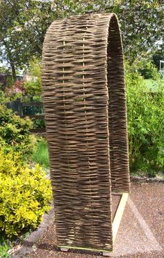 Woven willow archway for the RHS Chelsea Flower Show just loading to deliver. £350.00 www.waterwillows.co Tel: 0845 030 4255
