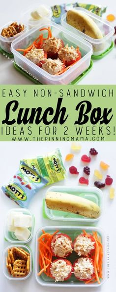 Tuna Stuffed Tomato lunch box idea for kids! Just one of 2 weeks worth of non-sandwich school lunch ideas that are fun, healthy, and easy to make! Grab your lunch bag or bento box and get started! paleo lunch for men Non Sandwich Lunches, Lunch Snacks, Paleo Lunch Box, Easy Lunch Boxes, Lunch Ideas, Bento Ideas, Tuna Stuffed Tomatoes, Teacher Lunches, School Lunches