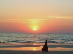 #Goa sunset on the beach.