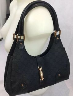 31442a40777 Authentic Gucci Monogram Canvas Nail Head Bardot Hobo Handbag Designer Purse