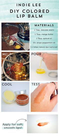DIY Colored Lip Balm