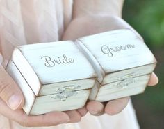 Rustic I DO ring bearer box by BellaBrideCreations on Etsy