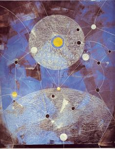 Configuration by Max Ernst, 1974. Oil on canvas, Even as an octogenarian, Ernst continued to work, busy on lithographs, collages and paintings. This is one of his final three paintings. Max Ernst died in Paris on April 1st, 1976