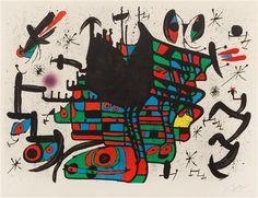 Joan Miro, (Spanish, 1893-1983), Untitled (from Homenatge a Joan Prats), 1971