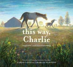 This way, Charlie by Caron Levis. (New York : Abrams Books for Young Readers, 2020). Jack, an introverted goat, and Charlie, a blind horse, meet at Open Bud Ranch, an animal rehabilitation center, and form an unlikely friendship that grows stronger in the face of adversity.