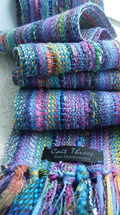Monets Garden Scarf by barefootweaver on Etsy.  Need to test this layout for rugs.