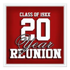 Athletic Style High School Reunion Invitation