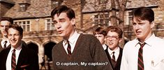 """11 Robin Williams' 'Dead Poets Society' Quotes That Will Inspire You to """"Carpe Diem"""" Robin Williams, Carpe Diem, Dead Poets Society Quotes, Der Club, Robert Sean Leonard, Oh Captain My Captain, Film Quotes, Movies Showing, Movie Tv"""
