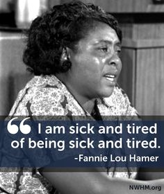 Civil rights leader Fannie Lou Hamer was a leader in organizing Mississippi…