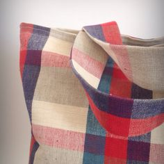 The Large Plaid Tote – The RocSac Shop -handmade