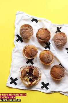 Donut Muffins with Scandi Sugar // The Sugar Hit