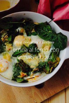 Terrina al forno uova spinaci e formaggio