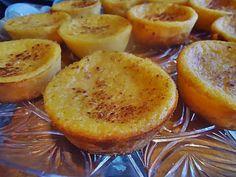 ingredientes: 2 ovos 250 g açúcar 50 g margarina 130 g farinha 1/2 l leite 300g de abóbora cozida e escorrida Canela em pó para polvilhar preparação: Batem-se todos os ingredientes e colocam-se em forminhas individuais (eu usei de silicone),polvilha-se com canela e leva-se a forno médio (180.ºc) cerca de 20min. desenformar depois de frio. …