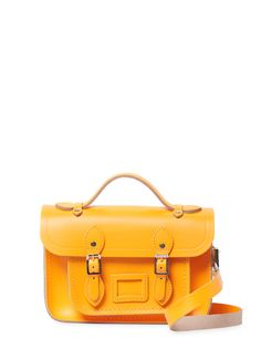 The Cambridge Satchel Company Mini Satchel Bag Cambridge Satchel, Shoulder Strap, Shoulder Bags, Leather Bag, Satchel Bag, Logo Design, Product Launch, Handbags, Yellow