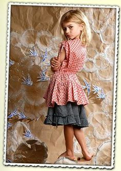 Paper Wings Voile Drawstring Blouse Size 6 (runs big) - The Crooked Little Path