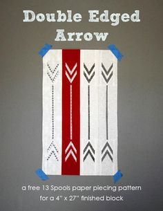 Double Edged Arrow Paper Pieced Quilt Block