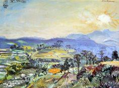 S. Sudjojono - Pagi di Pegunungan Tjibogo