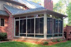 enclosed screen porch ideas with doors   ... Enclosed Patios http://www.americanhomedesign.com/patio-enclosures