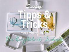 Stampin' Up! Tipps & Tricks am Sonntag: Acrylblock Technik