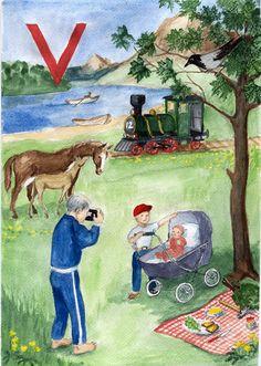 Helmin aapinen kirjain V Painting, Art, Art Background, Painting Art, Kunst, Paintings, Gcse Art