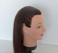 Diadema con trenza Pearl Earrings, Pearls, Fashion, Braid Headband, Head Bands, Hairdos, Moda, Pearl Studs, Fashion Styles