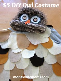DIY Owl Costume - not using the hat, and I chose different colors for my felt but this really is as easy as it says!