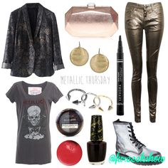 """Here's to commemorate rock and from what I heard """"the best concert ever""""!  Metallica can never go wrong.  This look is inspired by Kirk Hammett's fashion statements.  #fureeekshow #fashion #metallica"""