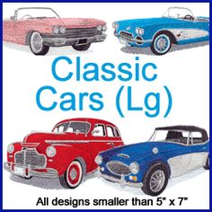 A Classic Cars Design Pack - Lg design (X1258) from www.Emblibrary.com