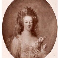 Grabado de Maria Antonieta