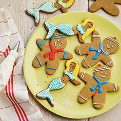 Gingerbread Sailors and Mermaids Coastalliving.com