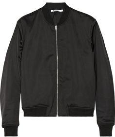 Alexander Wang Satin bomber jacket on shopstyle.com