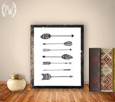 Arrow Art Print Printable art wall decor by PrintableWisdom, $5.00