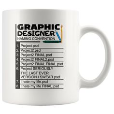 Graphic Designer Naming Convention Funny Ceramic Coffee Mug 11oz