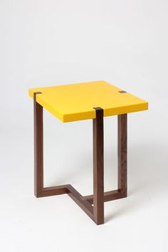 PIET side table yellow by Hugo Passos