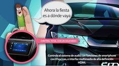 """#HondaCity Pantalla Touch Screen de 7´´  Tú tienes el poder en tus manos. Con la pantalla táctil de 7"""" de la versión EX de Honda City, controla el sistema de audio con funciones de smartphone, que incluye reproductor para 1 CD y de archivos MP3 y WMA®*, 8 bocinas, e interfaz multimedia de alta definición HDMI."""