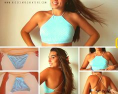 Ideas for diy ropa vieja crop tops Clothes Crafts, Sewing Clothes, Diy Fashion, Fashion Outfits, Fashion Tips, Diy Crop Top, Diy Halter Top, Crop Tops, Do It Yourself Fashion