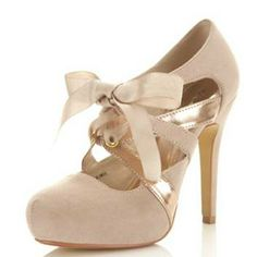 #Sandi Nude Town Tie Bow Shoe Sandi Town Gold & Nude Shoe — Sandi nude town shoe with rose gold cross over side detailing and grosgrain ribbon