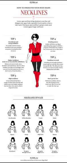 Necklines to suit every body shape #fashion
