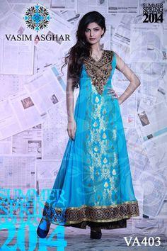 Vasim Asghar Summer Dresses 2014 For Women