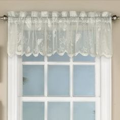 Marine Life Motif Knitted Lace Window Curtain Pieces (White - white valance - All Polyester) Tier Curtains, Lace Curtains, Window Curtains, White Valance, Lace Window, Sweet Home Collection, Valance Window Treatments, Nautical Pattern, Health