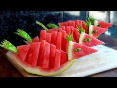 ❤️ Make a Fruit Center for Your Love - By J.Pereira Art Carving Fruits and Vegetables - YouTube