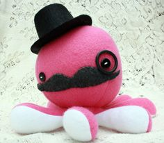 Octopink plushie from @jaynedanger's etsy. Reminds me of my own Mr. Octopus.
