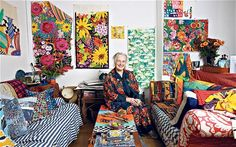 Sarah Campbell at home in London via The Telegraph