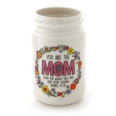 Mom Kid Wishes Mason Jar Vase