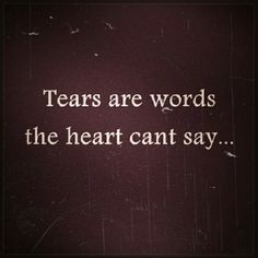 And when even these have passed away, for the groanings of the heart, there's nothing left to say....