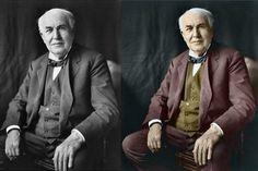 Thomas Edison - Incredible colorized historical photos