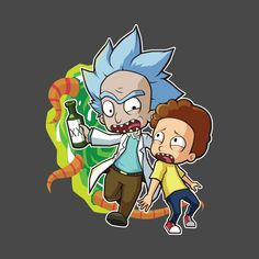 Dope Cartoons, Dope Cartoon Art, Rick And Morty Characters, Fictional Characters, Rick And Morty Crossover, Ricky And Morty, Design Art, Logo Design, Back To The Future